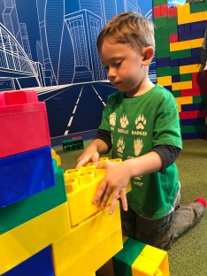 Liam loved all the building toys