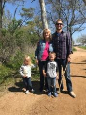 Enjoying a nature walk with Grammy Sue
