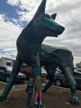 Outside Meow Wolf