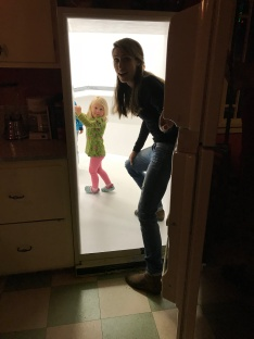 CJ and I stepped through the fridge - we wondered if this was what ours looked like when we shut the door.