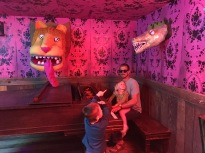 Liam was captivated by the wacky animals he found in Meow Wolf